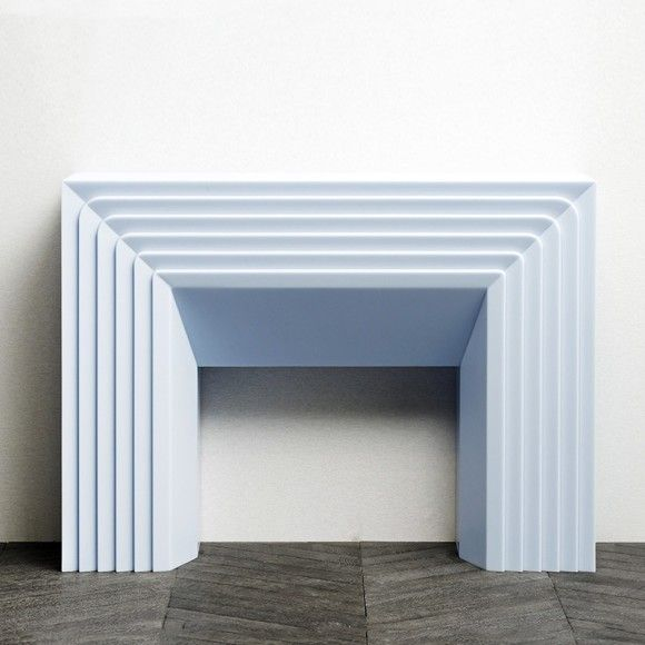 Ice Blue fireplace