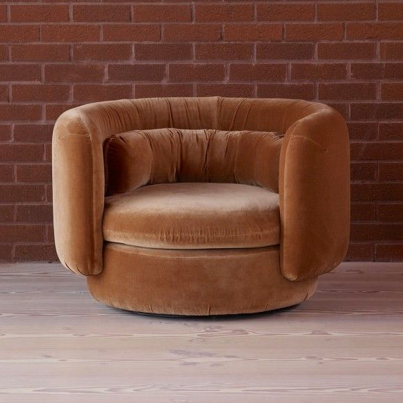 Group armchair with fixed base
